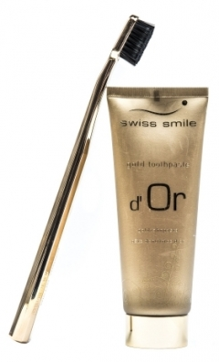 Dárková sada Swiss Smile d´Or Gold Toothpaste Kit