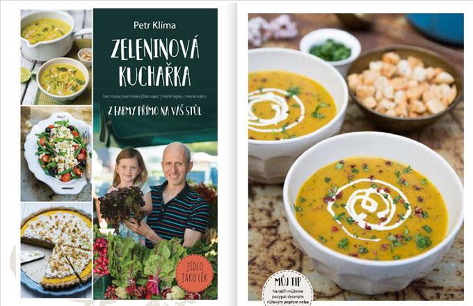 Letos na podzim vydal Petr Klíma v nakladatelství Smart Press knihu Zeleninová kuchařka -z farmy přímo na váš stůl