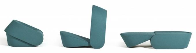 Rozkládací křeslo Up-lift, 120 x 76 x 43 cm, délka lůžka po rozkladu 200 cm, design Redesign, Prostoria, cena od 52 000 Kč, www.defakto.cz