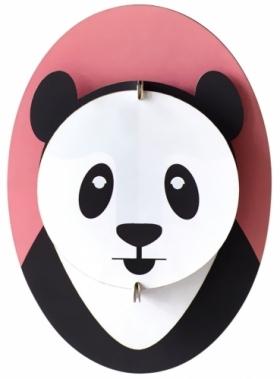 3D dekorace na stěnu Panda, recyklovaný karton, 15 x 10 x 7 cm, Studio Roof, cena od 242 Kč, www.ookidoo.com