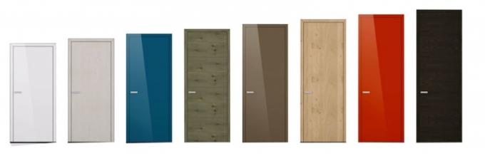 Ukázka možností zpracování a povrchových úprav interiérových dveří Hanák s technologií Slim-Line, víc rozměrů až po výšku 270 cm, www.hanak-nabytek.cz