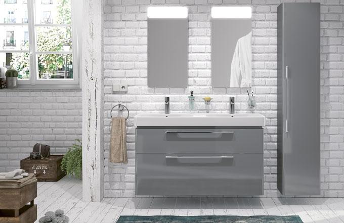Koupelnový nábytek z kolekce Traffic, umyvadlová skříňka pro dvojumyvadlo, šířka 90 cm, Kolo, cena 11 900 Kč, www.siko.cz