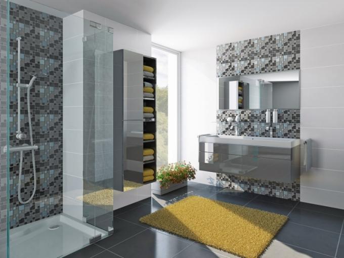 Koupelnový nábytek Trachea s dvířky s povrchovou úpravou T.acrylic v lesklém provedení, cena od 2 553 Kč/m2, www.trachea.cz