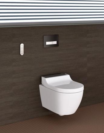 Flexibilním řešením například pro nájemní byty je samostatné sedátko AquaClean Tuma, které má stejné funkce jako kompletní toaleta a lze je dodatečně namontovat na stávající keramickou mísu, cena k doptání, www.geberit.cz