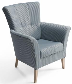 Křeslo London, dřevo a textile, design Firemní design, Böhm – čalouněný nábytek, cena na dotaz, www.bohmsedacky.cz