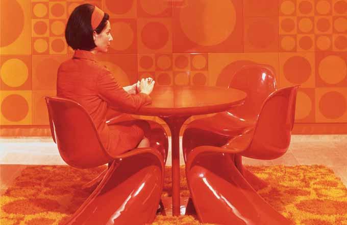 Ikonická židle dánského designéra Pantona