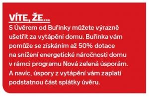 Kompletní seznam toho, co můžete doma s Buřinkou vylepšit, najdete na www.burinka.cz