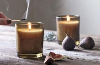 Fig Tree s vysokou koncentrací čistě přírodních vonných esencí, 100% přírodní vosk, nasládlá vůně exotických fíků s jemným dřevitým nádechem, Tell me more, cena 590 Kč, www.coclea.cz