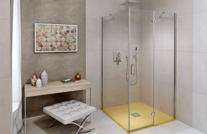 Sprchové podlahy – vaničky Flexia z litého mramoru s bezbariérovým vstupem a možností úpravy na požadovaný rozměr, Polysan, cena od 6 790 Kč, www.sapho.cz
