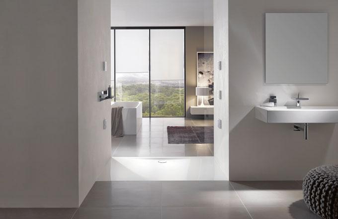 Sprchová vanička FloorSide, smaltovaná titanová ocel, 150 x 90 cm, Bette, cena 34 930 Kč, www.koupelny-waterloo.cz