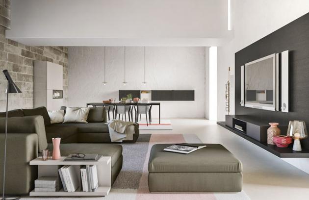 Polyfunkční prostor vybavený nábytkem z kolekce Day Collection, Alf daFre, cena na dotaz, www.diva-home.cz