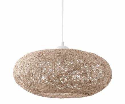Závěsné svítidlo Campilo, plast a textilní vlákno, O 45 cm, Eglo, cena 1 690 Kč, www.eglo.cz