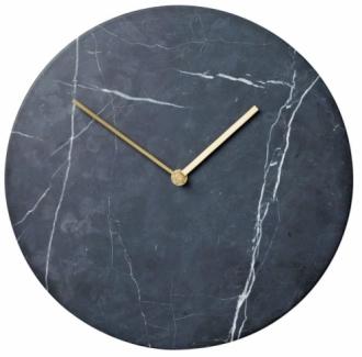 Nástěnné hodiny Marble, mosaz a mramor, O 30 cm, design Norm Architects, Menu, cena 7 450 Kč, www.designville.cz