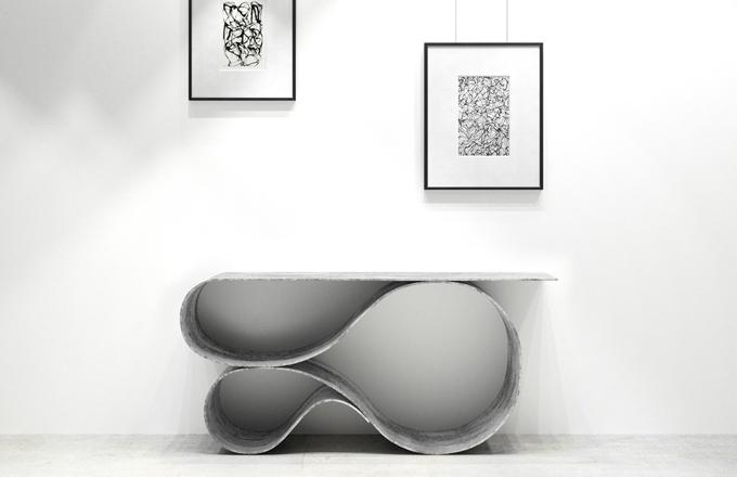 Průkopnický stolek z betonového plátna