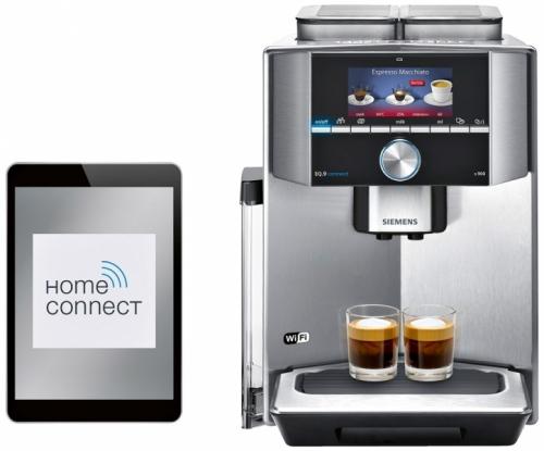 Kávovar Siemens EQ.9 connect s900 TI909701HC, ovládání s pomocí tabletu nebo chytrého telefonu, systém sensoFlow pro maximální aroma, plně automatické parní čištění, cena 62 990 Kč, Siemens, www.siemens-home. bsh-group.com/cz