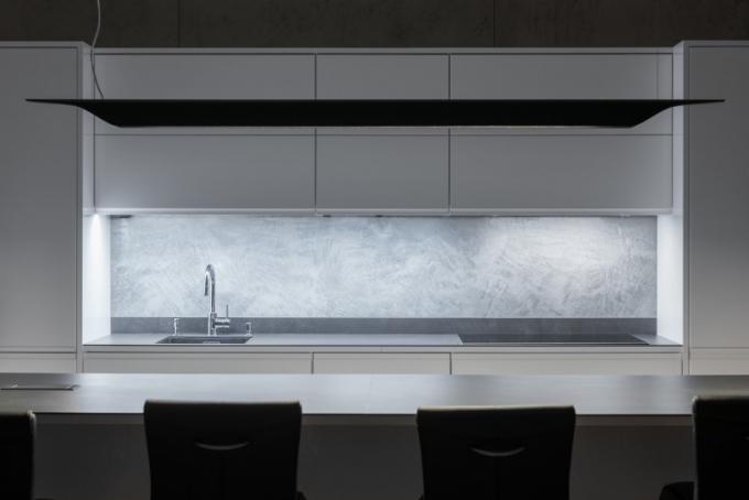 Imitace betonu v showroomu společnosti Lionstone