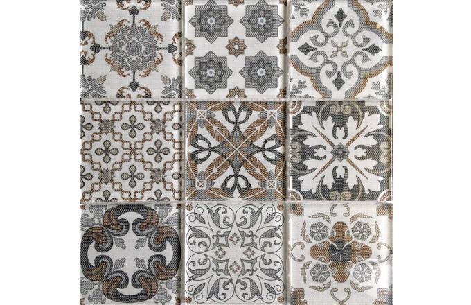 Skleněná mozaika od Premium Mosaic nalepená na síťce 29,9 x 29,9 cm, cena 299 Kč/set, www.siko.cz