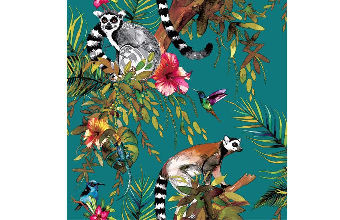 Papírová tapeta z kolekce Holden Lemur, rozměr role 0,53 x 10,05 m, cena 690 Kč, www.tapety-special.cz
