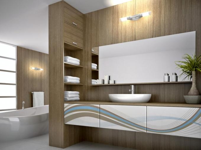 Koupelnový nábytek, grafická technologie Overface, výběr z různých designů, Trachea, cena od 1 392 Kč/m2, www.overface.cz