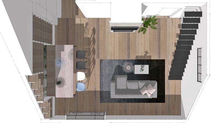 Půdorys dokazuje, že designéři požadavky na útulné a společenské vyznění interiéru splnili