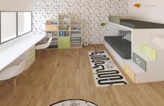 Na základě požadavků klientů vybrala designérka nábytek od výrobce Lagrama, jehož kolekce je velmi hravá a variabilní, ale zároveň nadčasová s velmi kvalitním zpracováním