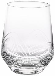 Sklenice Valo na vodu, objem 0,32 l, foukané sklo, ručně broušený vzor, cena 325 Kč