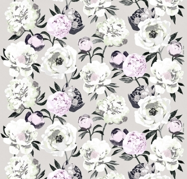 Textilie Pioni, design Liina Harju, světle šedá, 100% bavlna, šířka 150 cm, cena 759 Kč