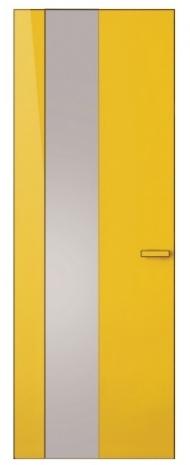 Dveře Flat dveře se skrytou zárubní a plynulou návazností na stěnu, lak RAL 1003, vysoký lesk, díky důmyslnému uchycení zárubně do stěny je zajištěna rychlá a jednoduchá montáž, Hanák, cena na dotaz, WWW. HANAK-NABYTEK. CZ