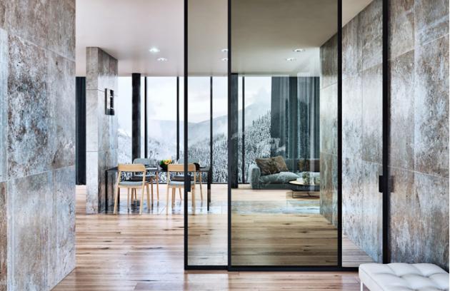 Skleněné dveře Strong, skryté upevnění ve stropě na posuvném systému Premium, J. A. P., cena od 7 321 Kč, WWW. POSUVNYSYSTEM. CZ