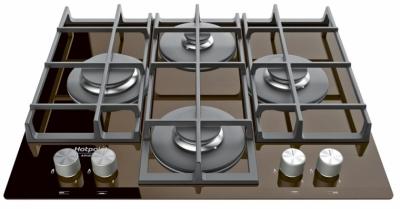 Plynová varná deska TQG 641, čtyři hořáky, povrch z tvrzeného skla, litinové mřížky, rozměr 60 x 60 cm, Hotpoint, cena 10 990 Kč, WWW. MY-HOTPOINT. CZ