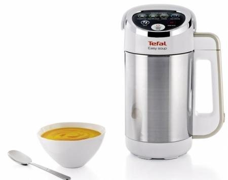 Polévkovač Tefal Easy Soup BL841138, leštěná nerezová ocel, 4 automatické vařicí programy, Tefal, cena 3 299 Kč, WWW. TEFAL. CZ