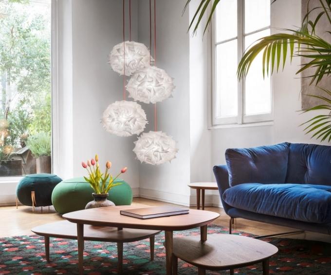 Závěsné svítidlo Veli mini quartet, O 50 cm, design Adriano Rachele, Slamp, cena 18 800 Kč, WWW. CORRECTINTERIOR.