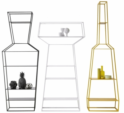 Knihovny April, May a June mají tři různé osobité tvary, které můžete pořídit samostatně nebo v kombinaci, design Gino Carollo, cena od 19 033 Kč, WWW.PUNTODESIGN.CZ