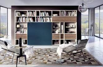 Modelová řada Mega-Design, neomezené kompozice dle návrhu zákazníka, 379 x 35 x 217 cm, Hülsta, cena 319 312 Kč, WWW. HOMESTYLE. CZ