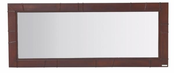 Zrcadlo VBD Z02 na zavěšení, vyrobené z ručně patinované oceli, 150 x 60 cm, možnost výroby na míru, Vladan Běhal Design, cena 12 407 Kč, WWW. VLADANBEHALDESIGN. CZ
