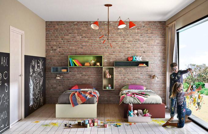 Variabilní řešení dětského nábytku 36e8 (Lago), design Daniele Lago, MDF, výběr z několika barevných provedení a rozměrů, cena na dotaz, WWW.LAGO.CZ