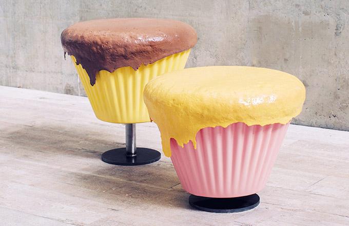 Dalším originálním kouskem stolička cupcake