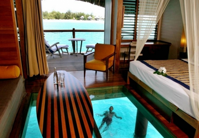 Bungalov The Over Water, Le Meridien, Bora Bora