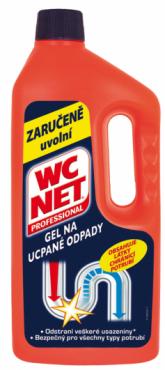 WC NET Gel na ucpané odpady lze používat také jako prevenci pro dobré odtékání odpadů.