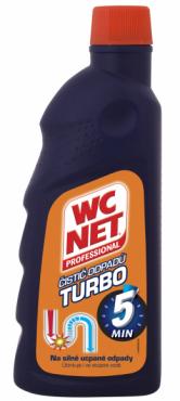 Pokud máte extrémě zanesený odpad, povolejte na pomoc WC NET čistič odpadů Turbo. Superkoncentrovaný hustý gel vyčistí i beznadějně ucpané odpady.
