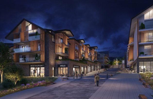 V srdci Lipna nad Vltavou vzniká pro nejnáročnější klientelu nový luxusní projekt – MOLO Lipno Resort se 79 exkluzivními byty a penthousy. Součástí komplexu je i pětihvězdičkový hotel s wellness a spa, zenová zahrada, 120metrové molo s restaurací a jezerním vyhřívaným bazénem, promenáda s restauracemi a obchody.