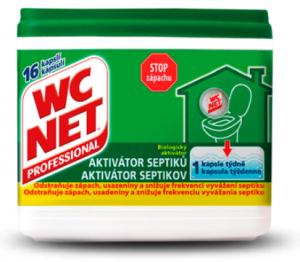 WC NET Aktivátor septiků pomáhá rozpouštět tuhé složky odpadu, čímž snižuje tvorbu usazenin.