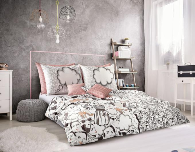 Povlečení Geon Dreams – Her (Veba), 100% bavlna, potisk,140 × 200 + 70 × 90 cm, cena 1 474 Kč, WWW. BYTOVY-TEXTIL-VEBA. CZ