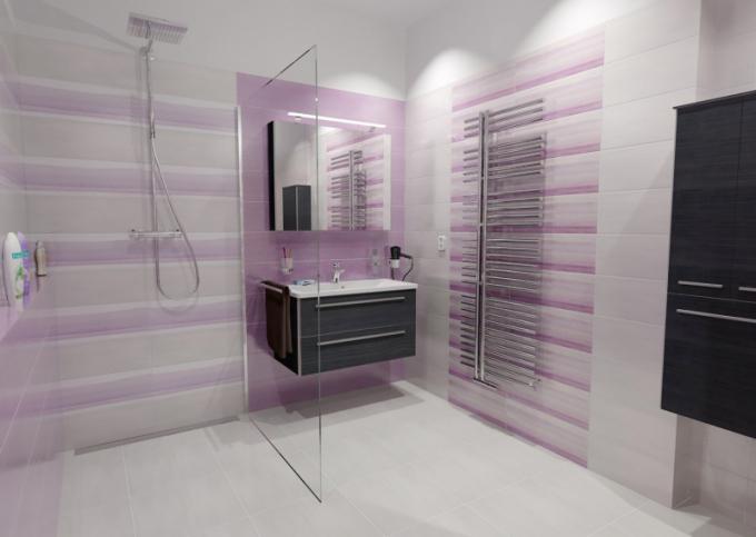 Sprcha s odtokovým žlabem