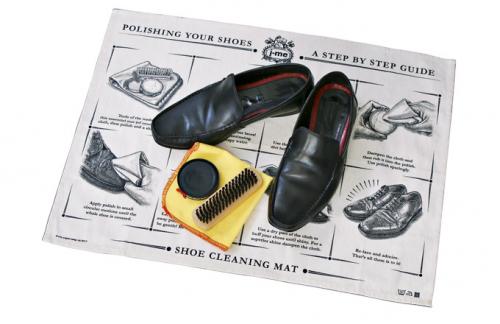 Podložka pro čištění bot Shoe Mat (J-Me), 64 × 47 cm, cena 360 Kč, www.naoko.cz