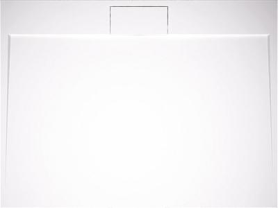 SKRYTO VE VANIČCE Sprchová vanička DANTE-K (Teiko) vyniká elegantním plochým designem, odpad je skryt pod krytem ze stejného materiálu jako vanička, litý mramor, 120 × 90 × 3 cm, bílá, cena 8 595 Kč, WWW. TEIKO. CZ
