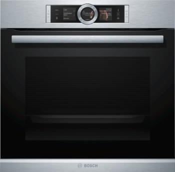 Kombinovaná pečicí parní trouba Bosch Serie | 8 HSG656XS1 umožňuje připravovat pokrmy několika různými metodami – pomocí klasického ohřevu, kombinací páry s klasickým ohřevem nebo se 100% párou.