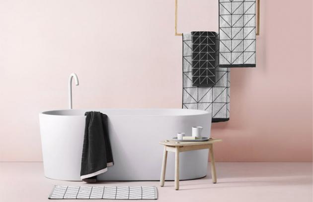 Kolekce ručníků, osušek a předložky Duet (Aura Home), 100% bavlna, cena od 249 Kč, WWW. AURAHOME. COM. AU