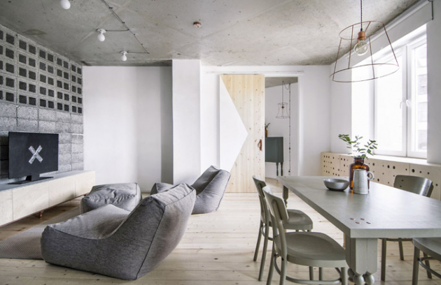 Majitelé si přáli vytvořit interiér, který bude dokonalým spojením toho nejlepšího ze skandinávského a japonského minimalistického designu