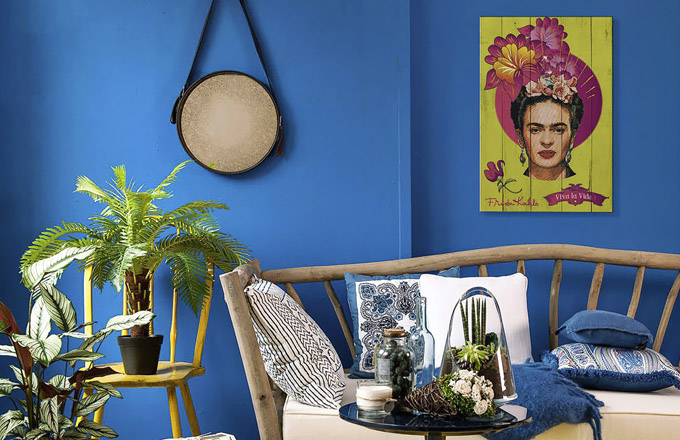 Nástěnná dekorace Viva La Vida Green, 40 × 60 cm, cena 1 349 Kč, WWW.WESTWING.CZ